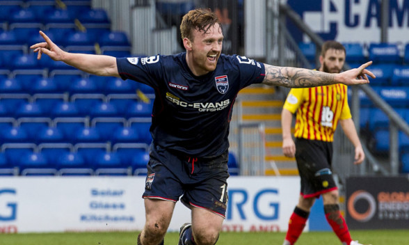 Craig Curran celebrates what turned out to be the winning goal.