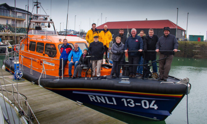 A Shannon class lifeboat at Arbroath Harbour last month during trials by the towns crew.