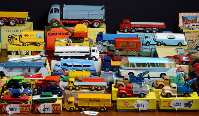A collection of rare Dinky toys is expected to fetch around £250,000 when it is sold at auction. Retired car dealer Raymond Hainsworth collected about 2,000 over 50 years.