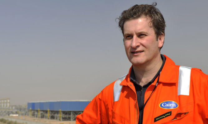 Cairn chief executive Simon Thomson during a visit to India.