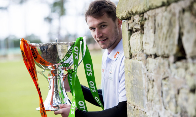 10/03/15 ST ANDREWS TRAINING CENTRE Dundee Utd's Callum Morris looks ahead to this weekend's meeting with Celtic in the Scottish League Cup Final.