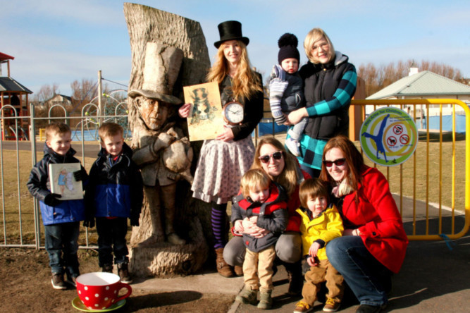 At the Low Common Playground in Arbroath, from left: five-year-old twins James and David Gray, Jilly Henderson, Laura Spink holding one-year-old Charlie Spink, Maxie Cobern-Berke and two-year-old Oscar Cobern-Berke, and Amber Inglis with two-year-old Kyle Robertson.