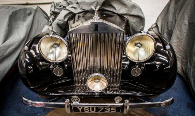 The Rolls-Royce Silver Wraith.
