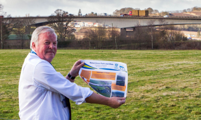 Ronald Wilson, of Dundee City Council, at Edrington Groups Walnut Grove base in Perth, where the park-and-ride scheme would be situated.