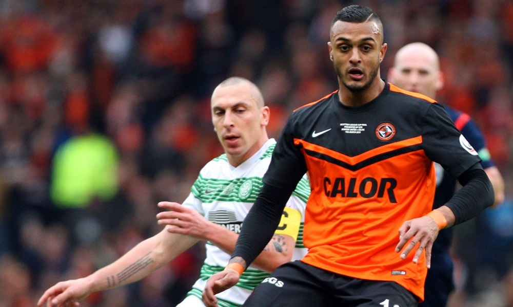 Kris Miller, Courier, 15/03/15. League Cup Final, Dundee United V Celtic. 1st half, Bilate and Brown.