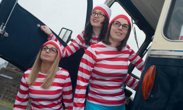 Solicitors Kirsty Stewart, Nikki Watt and Adelle Walker make a run for it.