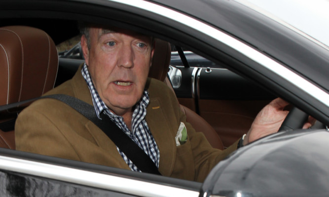 Jeremy Clarkson leaving his house in London.