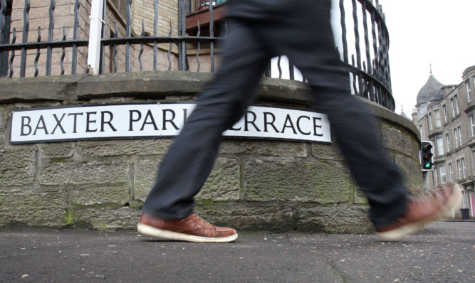 Baxter Park Terrace, one area in Dundee where residents are being mistakenly solicited for sex.