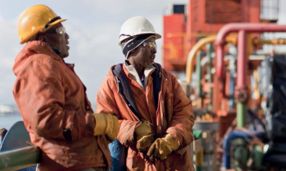 Mozambique oil and gas workers.