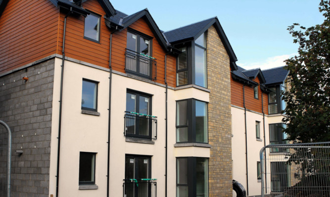 The flats at Sandy Loan in Broughty Ferry.