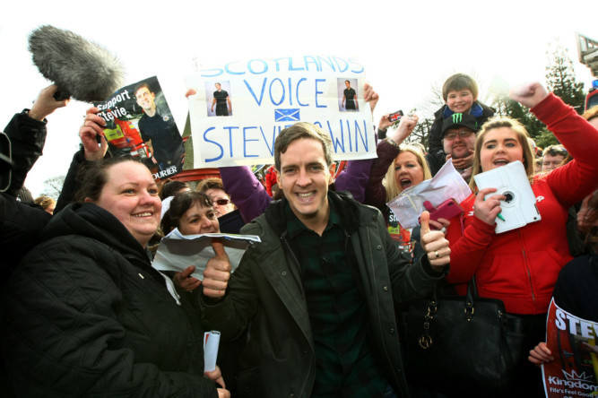 Hundreds of cheering fans turned out to welcome The Voice star Stevie McCrorie back to Kirkcaldy on Monday. The singer, who is hoping to win the BBC singing contests live final on Saturday night, was back in the town where he works as a firefighter with Blue Watch. See more at www.thecourier.co.uk/1.857979.