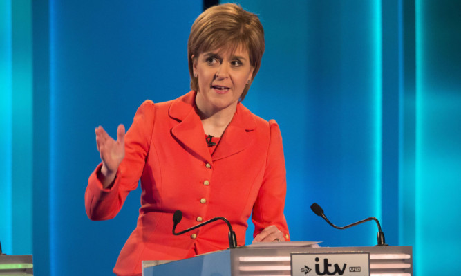 Nicola Sturgeon impressed in the debate.
