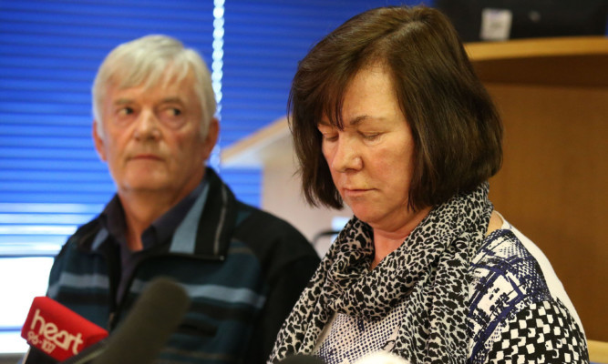 Karen's parents Marian and John Buckley at the time of her disappearance.