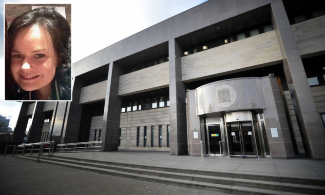 Alexander Pacteau appeared at Glasgow Sheriff Court in connection with the death of Irish student Karen Buckley (inset).