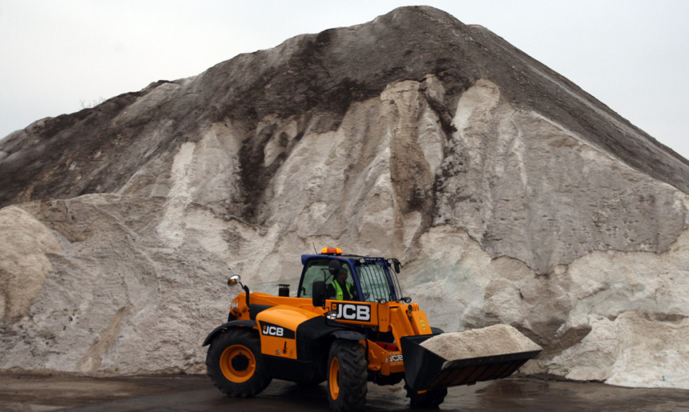 A veritable salt mountain at the Dundee City Council depot.