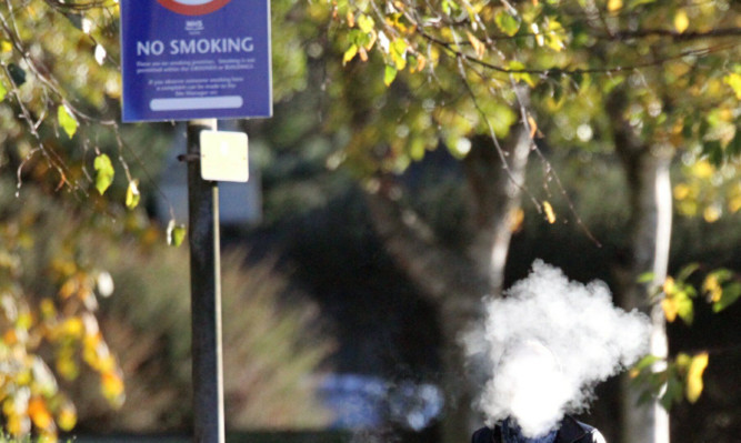 The 'no smoking' signs are often ignored.