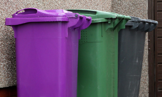 Residents were told to leave their bins out to allow crews to catch up with their rounds.