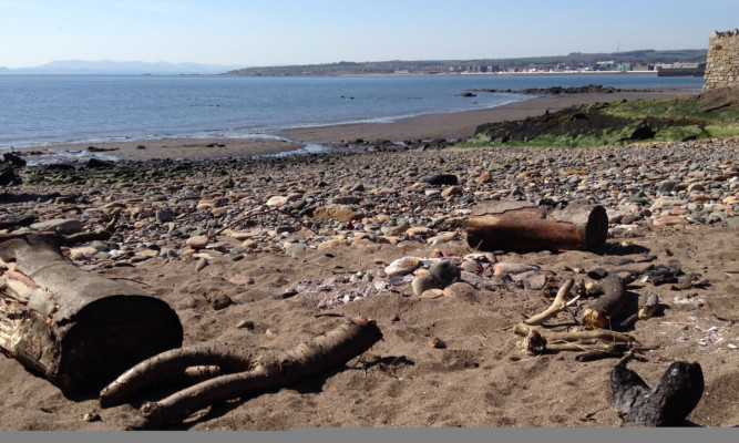 Police say they will patrol the beach at Ravenscraig Park after reports teenagers were starting fires and leaving mess at the beauty spot.