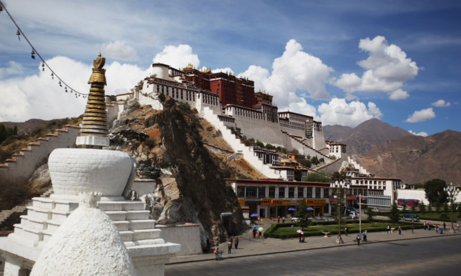 The city of Lhasa, administrative capital of the Tibet autonomous region of the Peoples Republic of China.