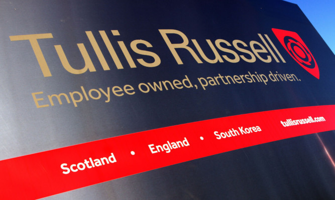 Kris Miller, Courier, 22/11/13. Picture today shows the sign for Tullis Russell at the biomass site in Glenrothes, Fife.