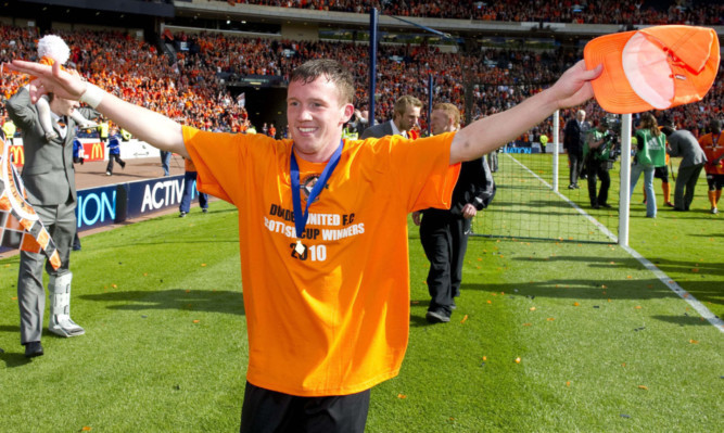Danny Swanson won the Scottish Cup with Dundee United, but will have no split loyalties on Saturday.