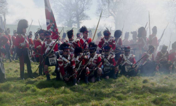 Waterloo re-enactors will put on a display at the Black Watch Castle and Museum on Saturday.