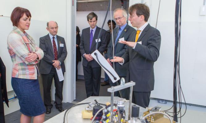 Education Secretary Angela Constance visits St Andrews University to unveil the world-leading physics facility.