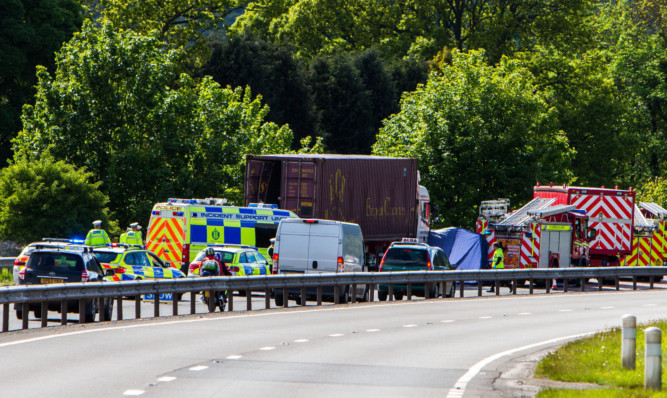 Scott McCallum was killed when the van he was driving collided with a lorry on the A90.