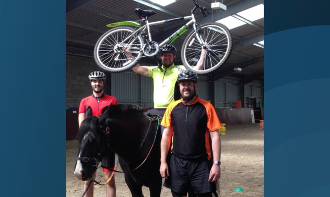 Barrie Taylor, Mike Currie and Stewart Ramsay are heading off on a 1,000-mile cycle to raise funds for Brae Riding for the Disabled, which has helped Stewarts daughter Brooke.