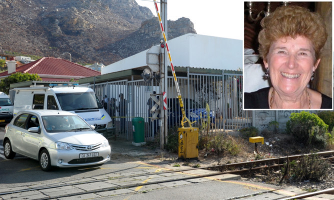 The remains of Sandra Malcolm (inset) were found in her home in Cape Town in April.