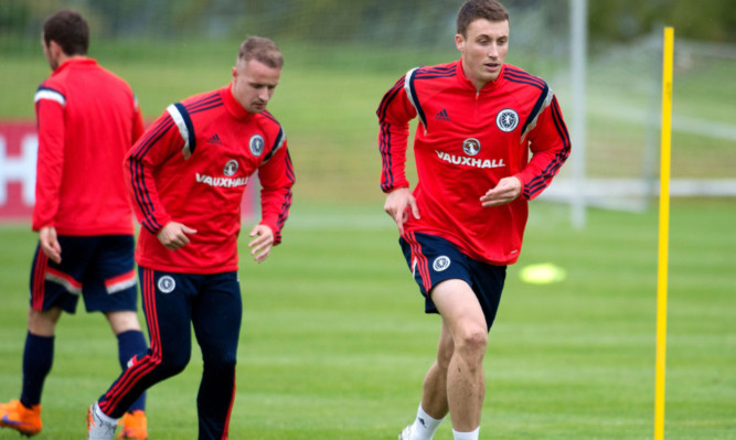 04/06/15  SCOTLAND TRAINING MARR HALL - BISHOPTON Scotland's Craig Forsyth remains focused at training ahead of the national side's meeting with Qatar.