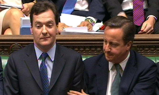 Alex Salmond is enraged by the savings plan announced by Chancellor George Osborne to the House of Commons