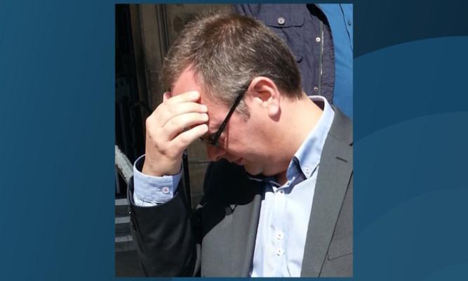 David Edmeades outside court.