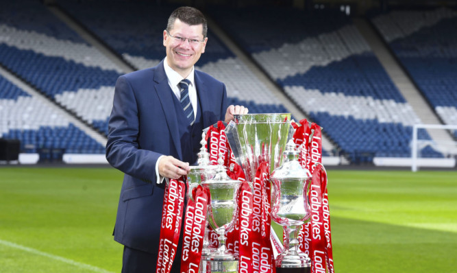 SPFL chief executive Neil Doncaster announced the Scottish Professional Football League's new two-year sponsorship deal with bookmakers Ladbrokes.