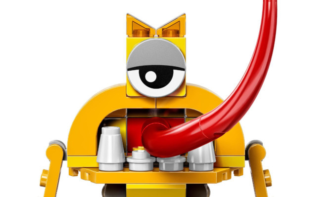 """Turg was described on Lego's website as """"Part frog, part chicken, part back-of-the-bus window-licker, this Mixel has the longest tongue of them all."""""""