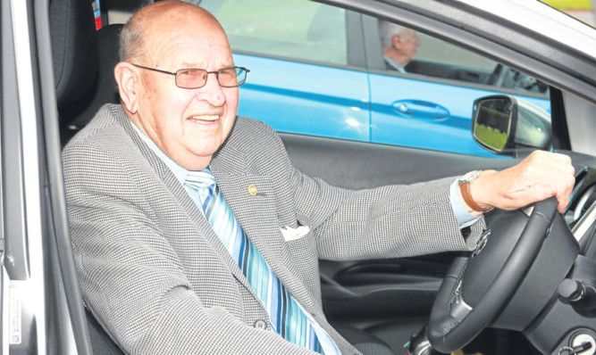 Bill Lakie has no plans to give up driving despite being in his eighties.