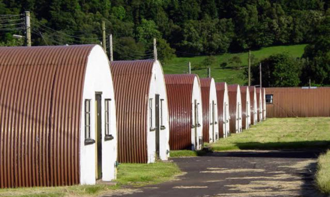 The huts at Cultybraggan camp, Comrie, which it is hoped will be converted into self-catering and bunkhouse accommodation.