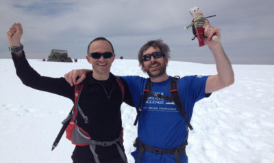 Paul Fettes and Nick Conway on Ben Nevis.