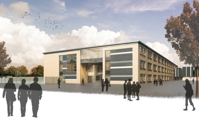 An artist's impression of the new Sidlaw View Primary School.
