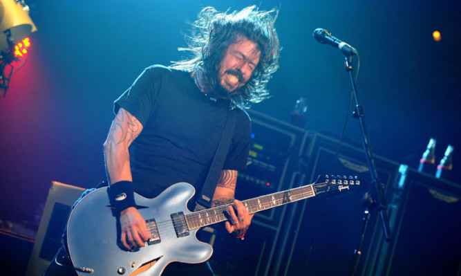Dave Grohl in full flow with the Foo Fighters.