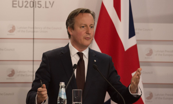 Prime Minister David Cameron holds a press conference at the end of the Eastern Partnership Summit which he attended in Riga, Latvia today. PRESS ASSOCIATION Photo. Picture date: Friday May 22, 2015. David Cameron has vowed to deliver real reform of the European Union as he met with fellow EU leaders for the first time since his general election victory. See PA story POLITICS EU. Photo credit should read: Stefan Rousseau/PA Wire