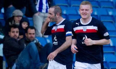 Brian Easton (right) is aiming to put Dundee's relegation rivals under pressure.