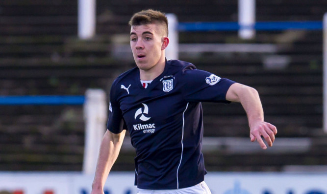 Declan Gallagher in action for Dundee.