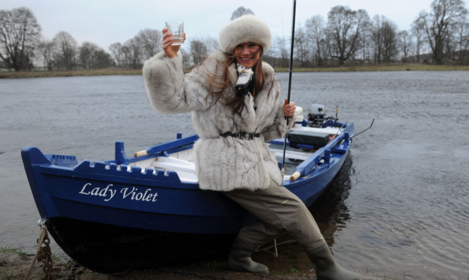 Claire Mercer Nairne at the Meikleour Fishings beat earlier in the year. She hopes to create a buzz for angling among women.