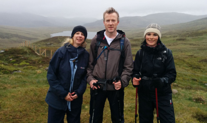 Jill, Mike and Gayle above Loch Beanie