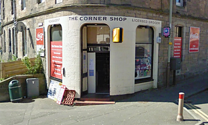 Ali showed the victim the picture in this corner shop in Perth when she came in to collect her wages.