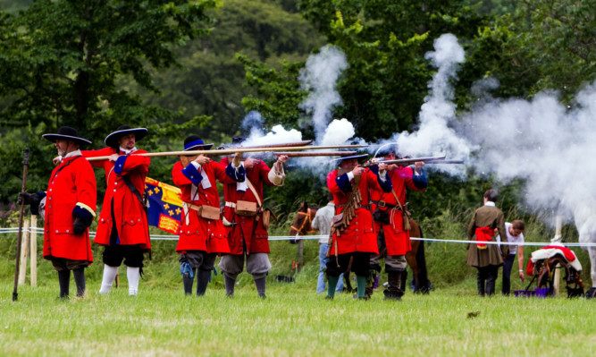 Soldiers of Killiecrankie have committed to a re-enactment event for a third year.