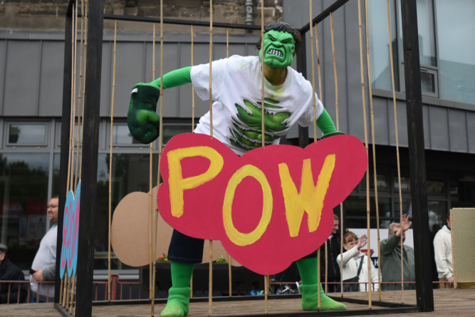 Some superheroes helped make it a super day in Fife for the Cowdenbeath Gala Parade.