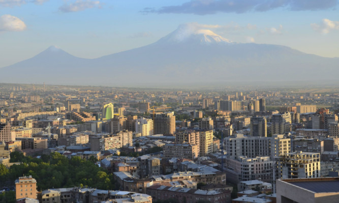 A city view of the Armenian capital, Yerevan.