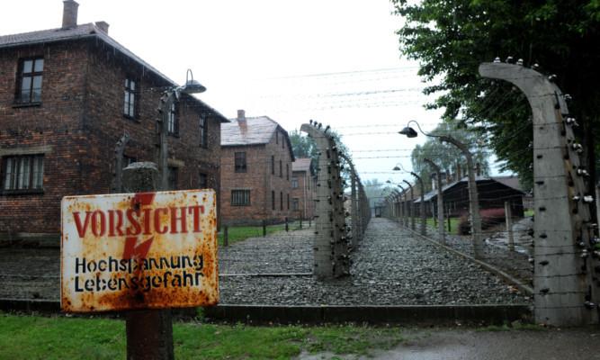 The Auschwitz camp.